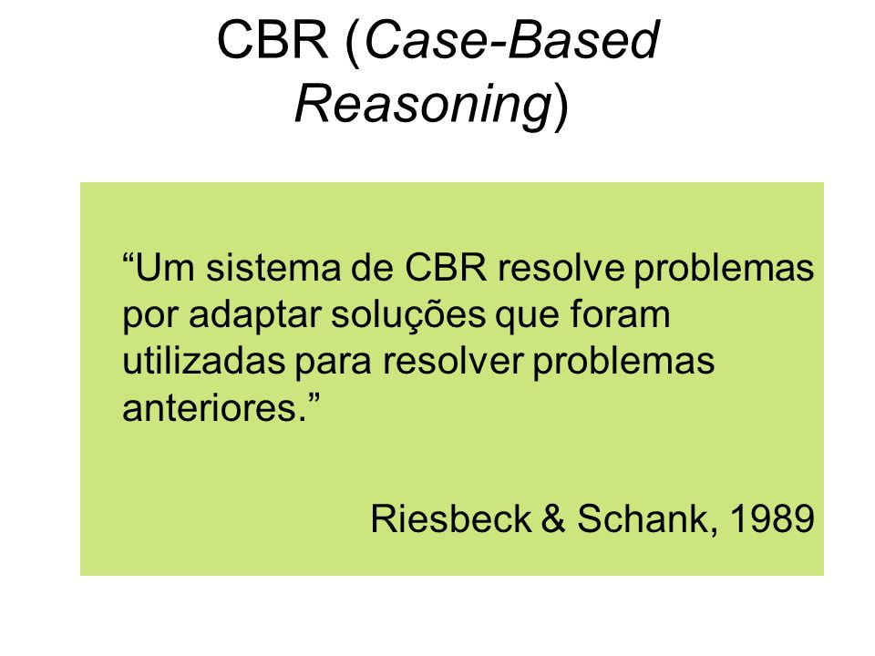 CBR (Case-Based Reasoning)