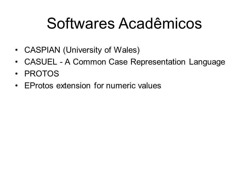 Softwares Acadêmicos CASPIAN (University of Wales)