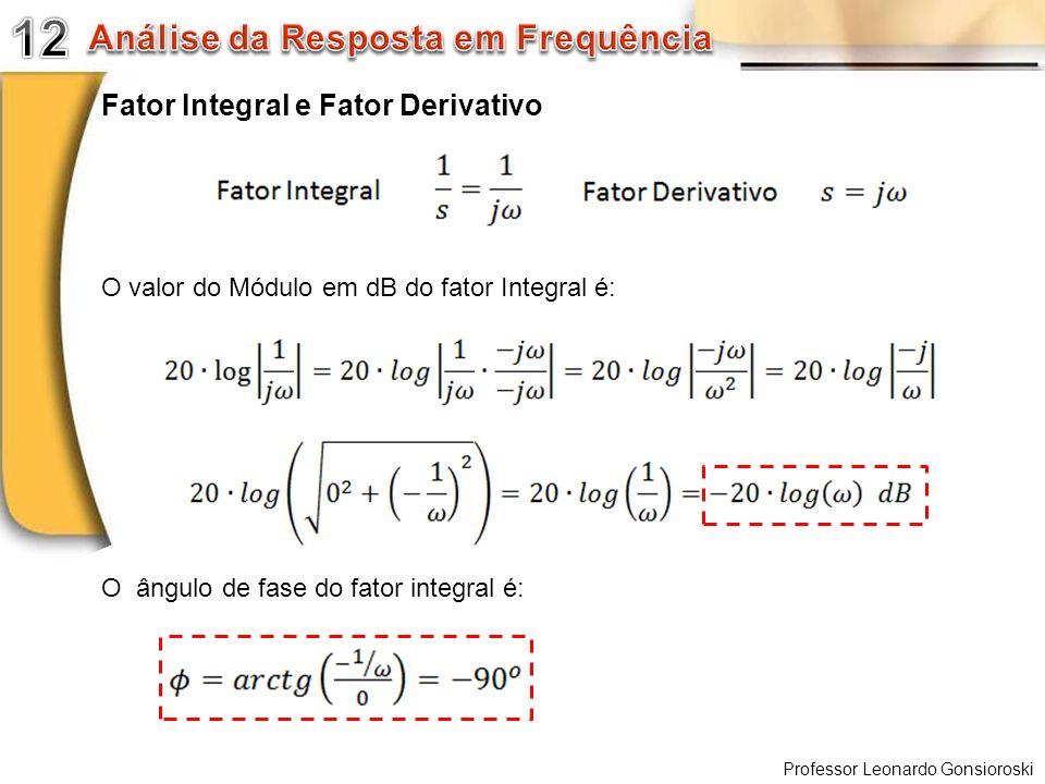 12 Análise da Resposta em Frequência Fator Integral e Fator Derivativo