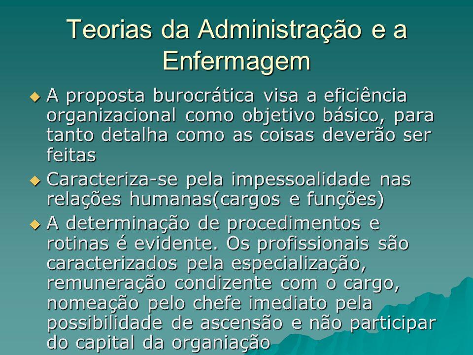 Teorias da Administração e a Enfermagem