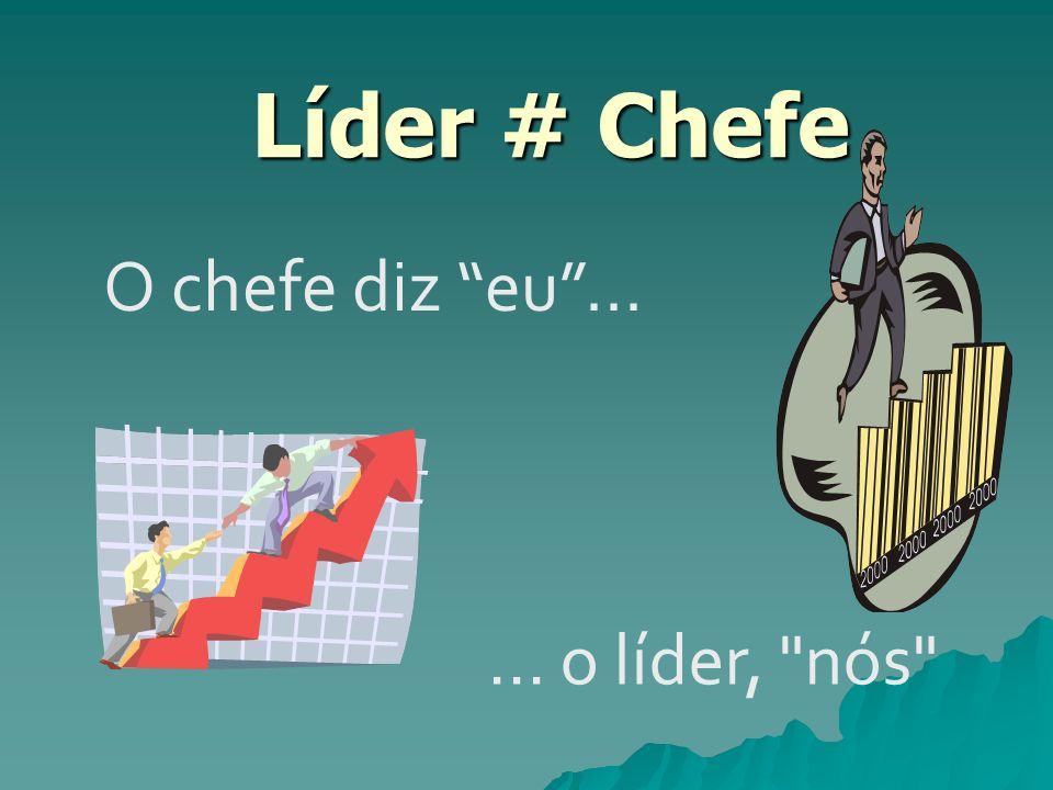 Líder # Chefe O chefe diz eu ... ... o líder, nós