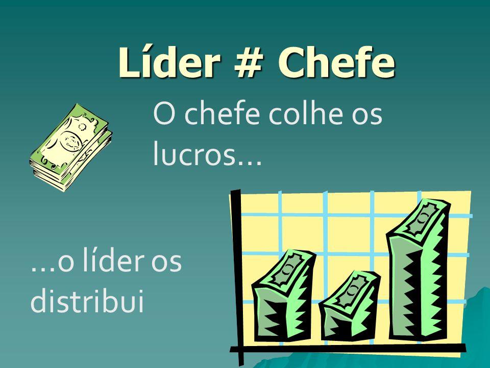 Líder # Chefe O chefe colhe os lucros... ...o líder os distribui