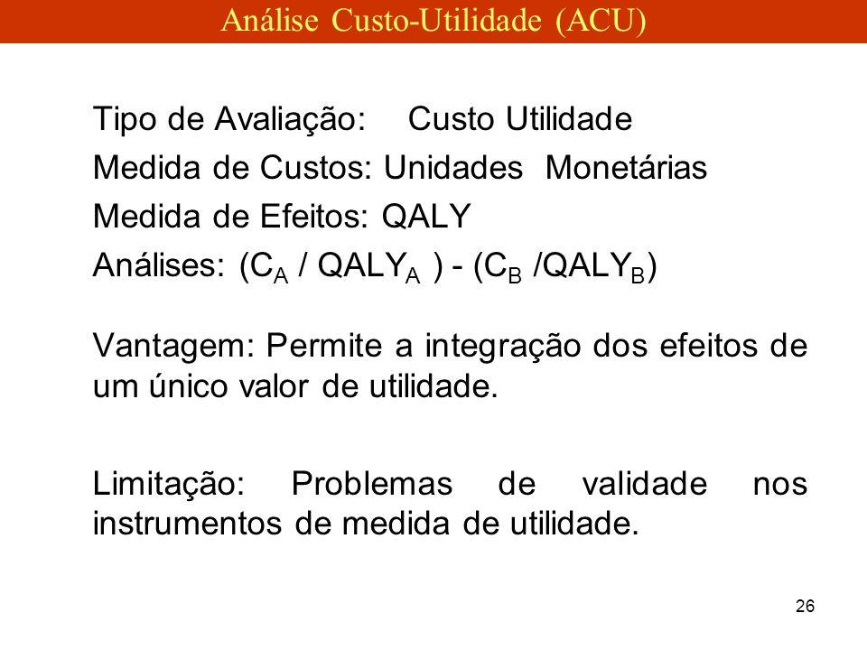 Análise Custo-Utilidade (ACU)