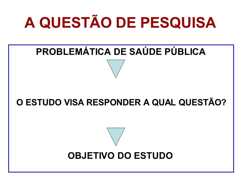 PROBLEMÁTICA DE SAÚDE PÚBLICA O ESTUDO VISA RESPONDER A QUAL QUESTÃO