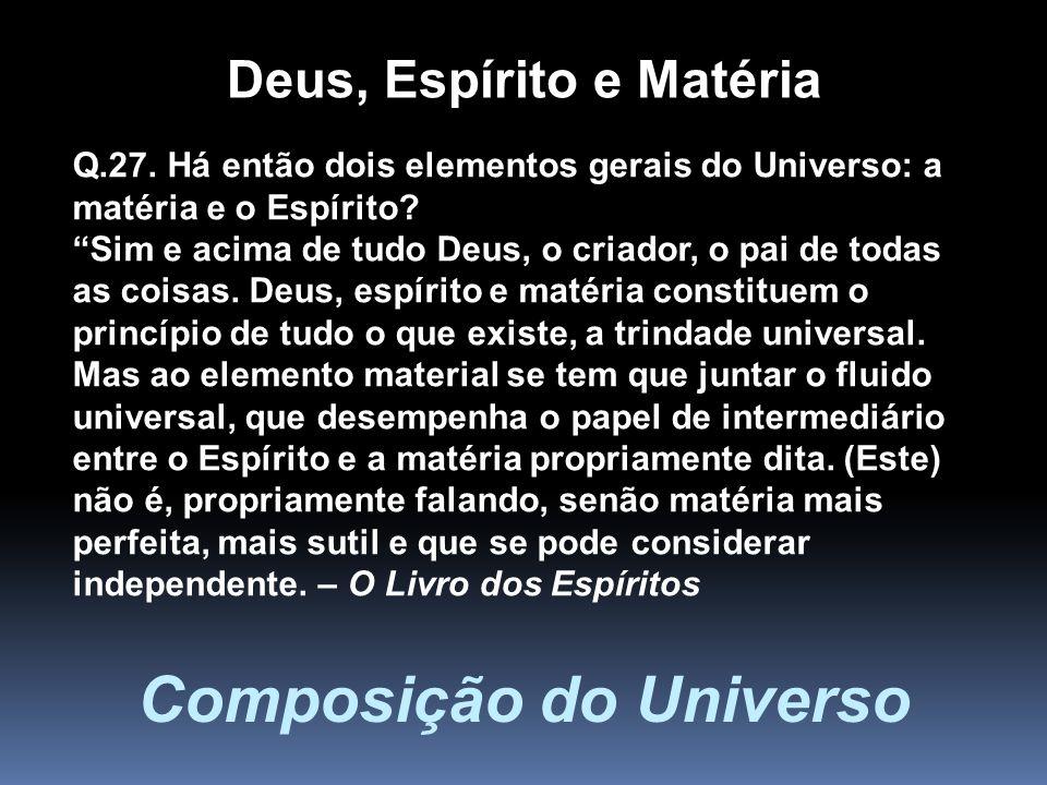 Deus, Espírito e Matéria Composição do Universo