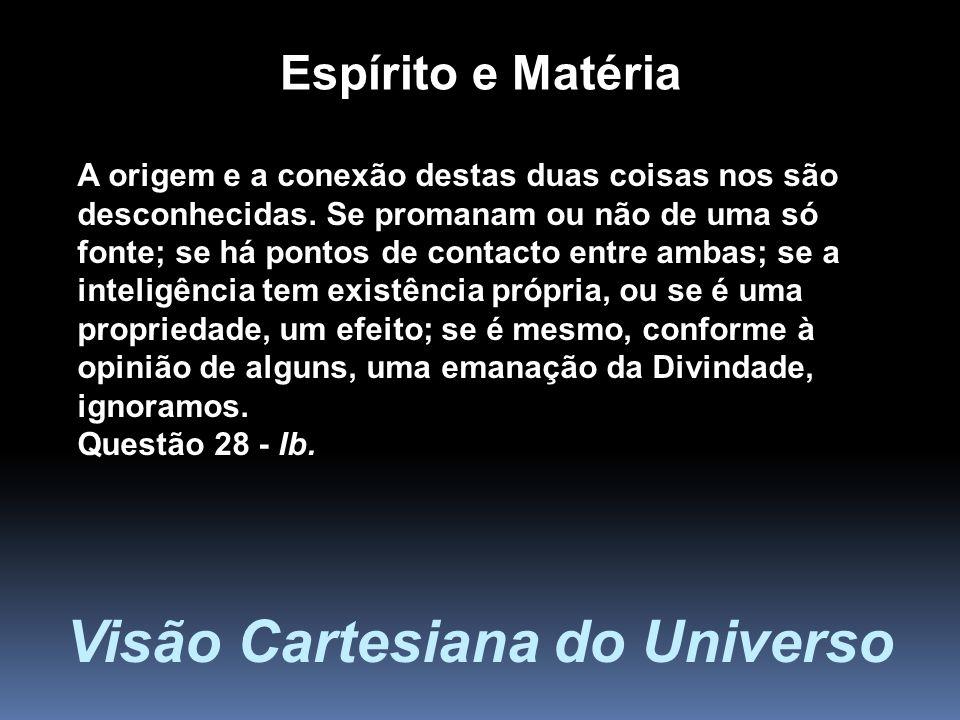 Visão Cartesiana do Universo
