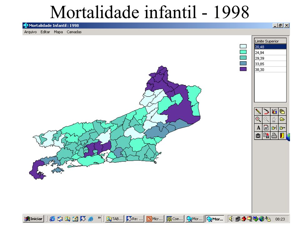 Mortalidade infantil - 1998