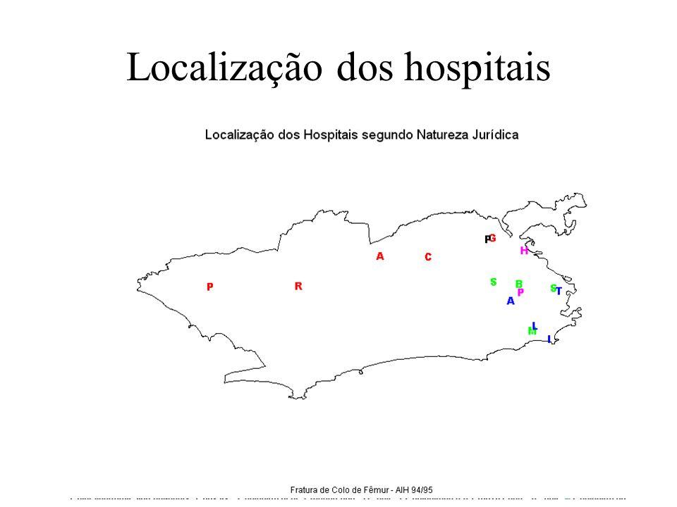 Localização dos hospitais