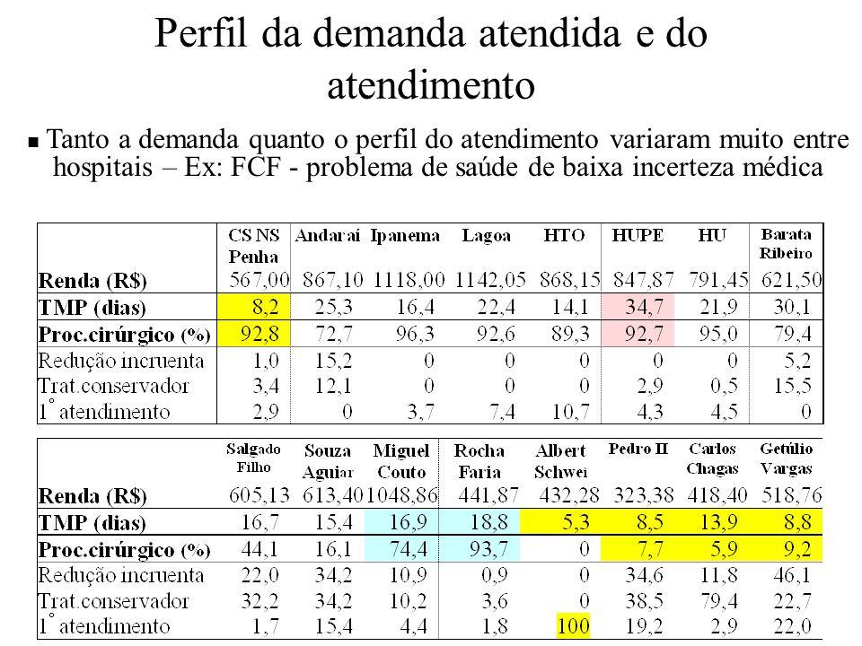 Perfil da demanda atendida e do atendimento