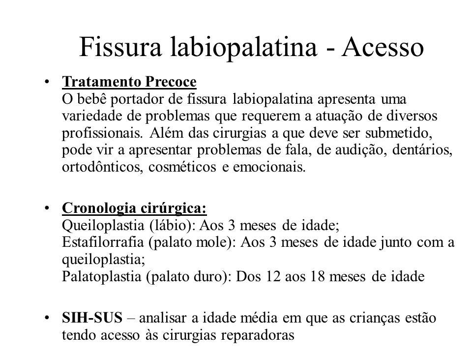 Fissura labiopalatina - Acesso