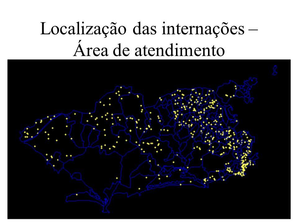 Localização das internações – Área de atendimento