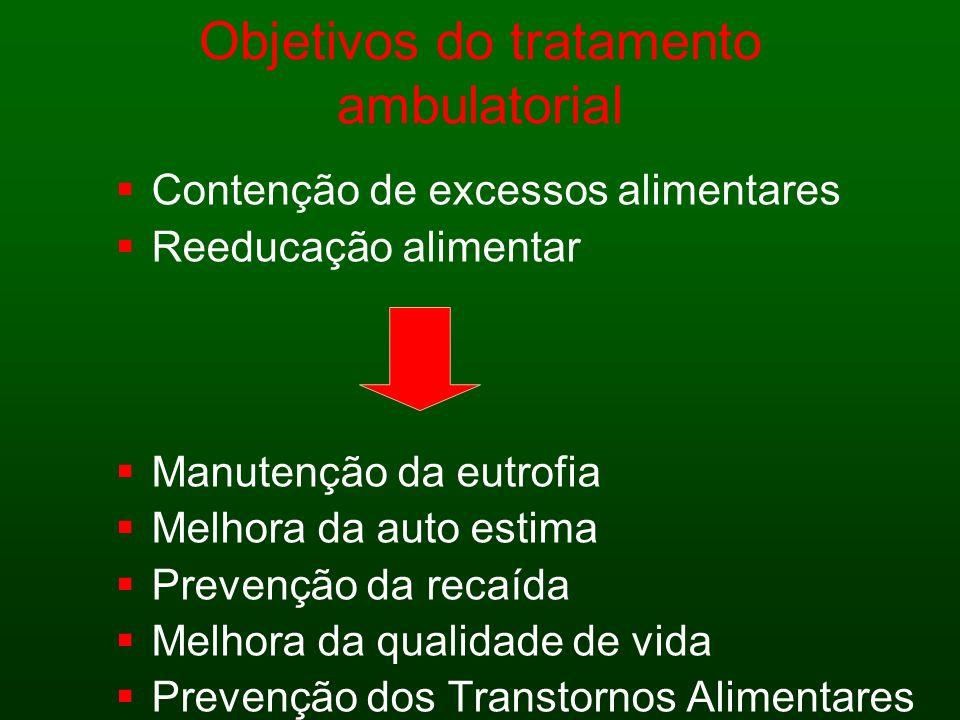 Objetivos do tratamento ambulatorial