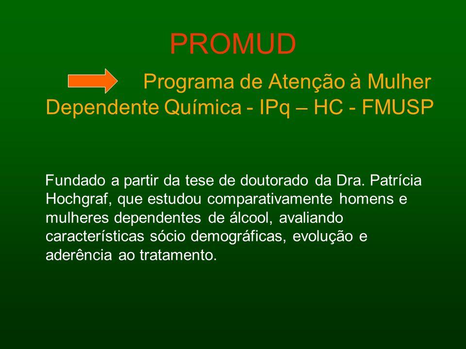 PROMUD Programa de Atenção à Mulher Dependente Química - IPq – HC - FMUSP.
