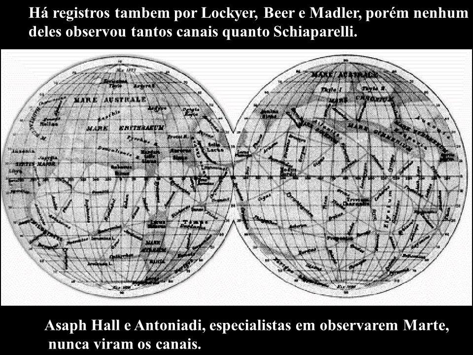 Há registros tambem por Lockyer, Beer e Madler, porém nenhum