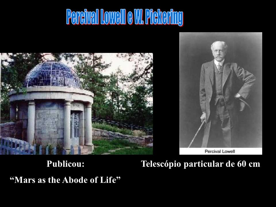 Percival Lowell e W. Pickering