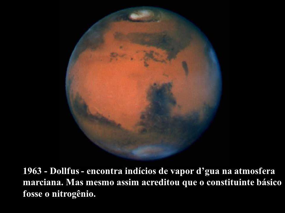 1963 - Dollfus - encontra indícios de vapor d'gua na atmosfera