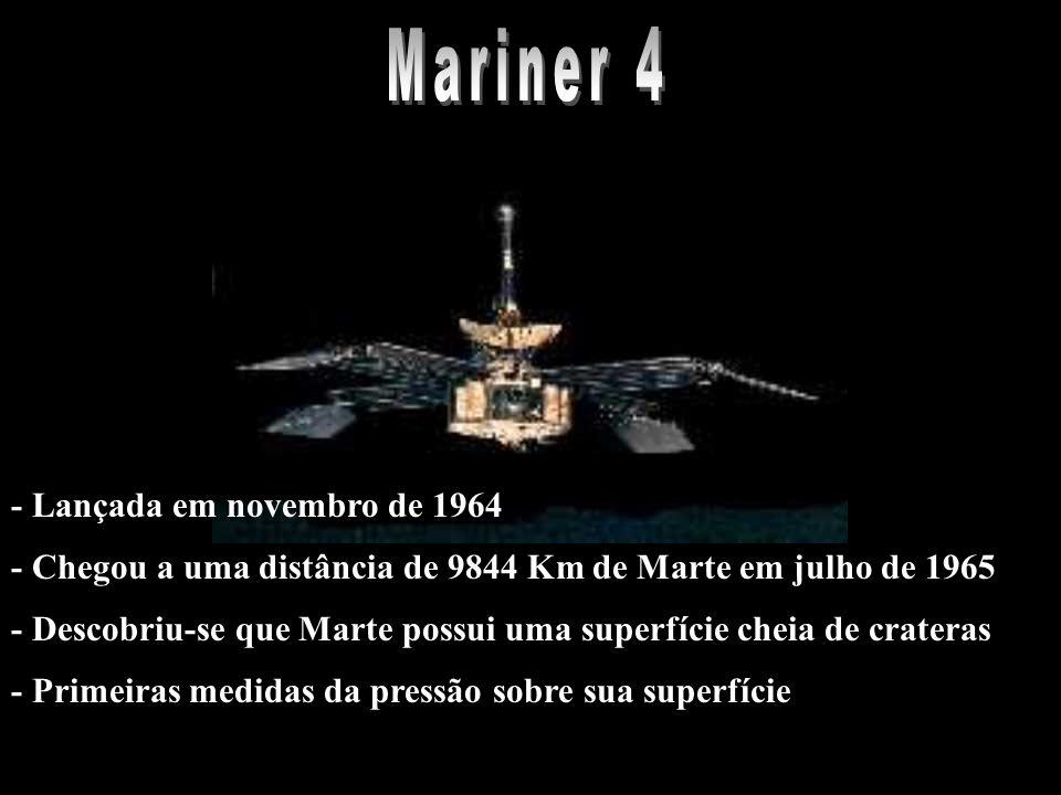 Mariner 4 - Lançada em novembro de 1964