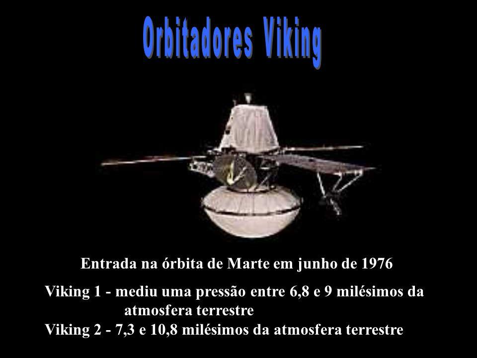 Orbitadores Viking Entrada na órbita de Marte em junho de 1976