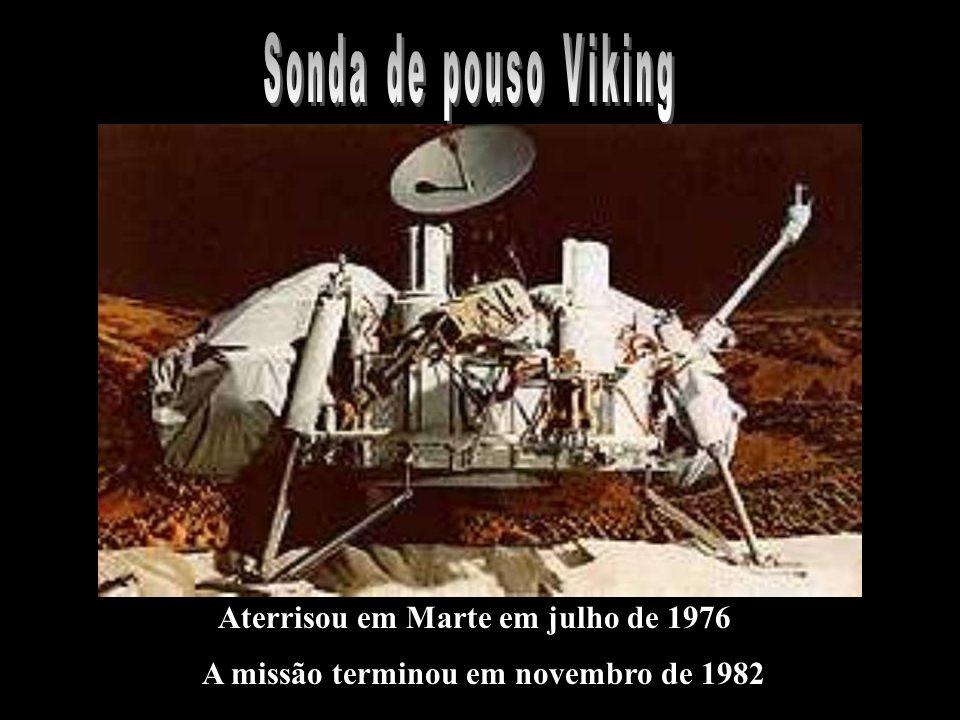 Sonda de pouso Viking Aterrisou em Marte em julho de 1976 A missão terminou em novembro de 1982