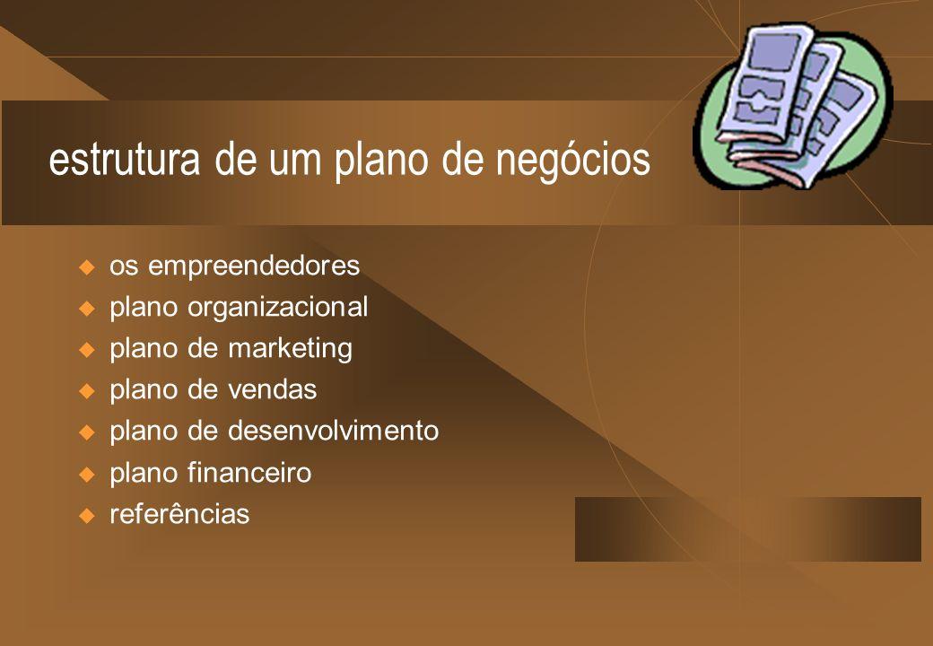 estrutura de um plano de negócios