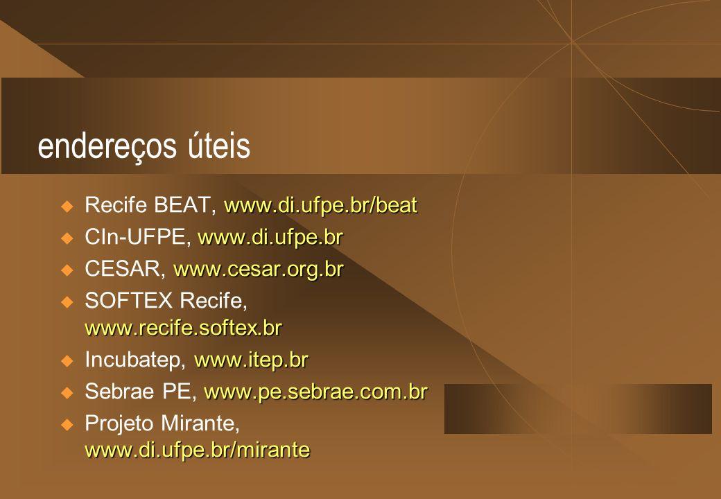 endereços úteis Recife BEAT, www.di.ufpe.br/beat