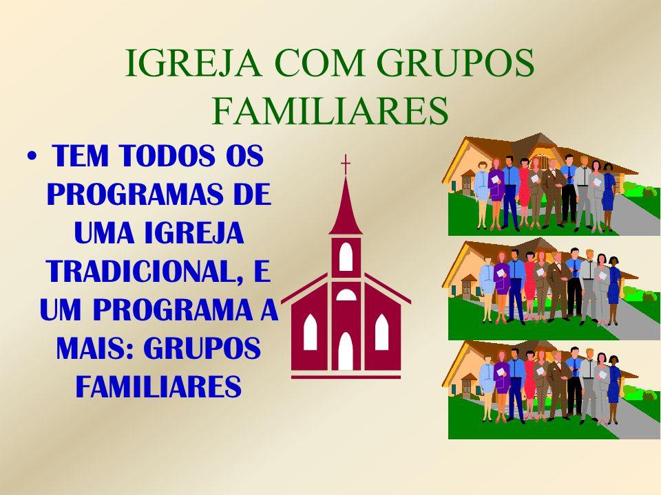 IGREJA COM GRUPOS FAMILIARES