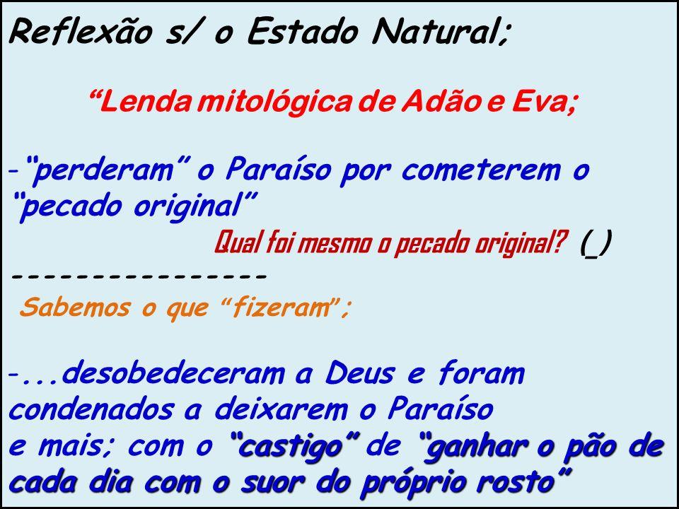 Reflexão s/ o Estado Natural;