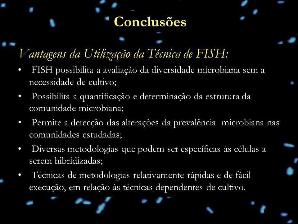 Conclusões Vantagens da Utilização da Técnica de FISH: