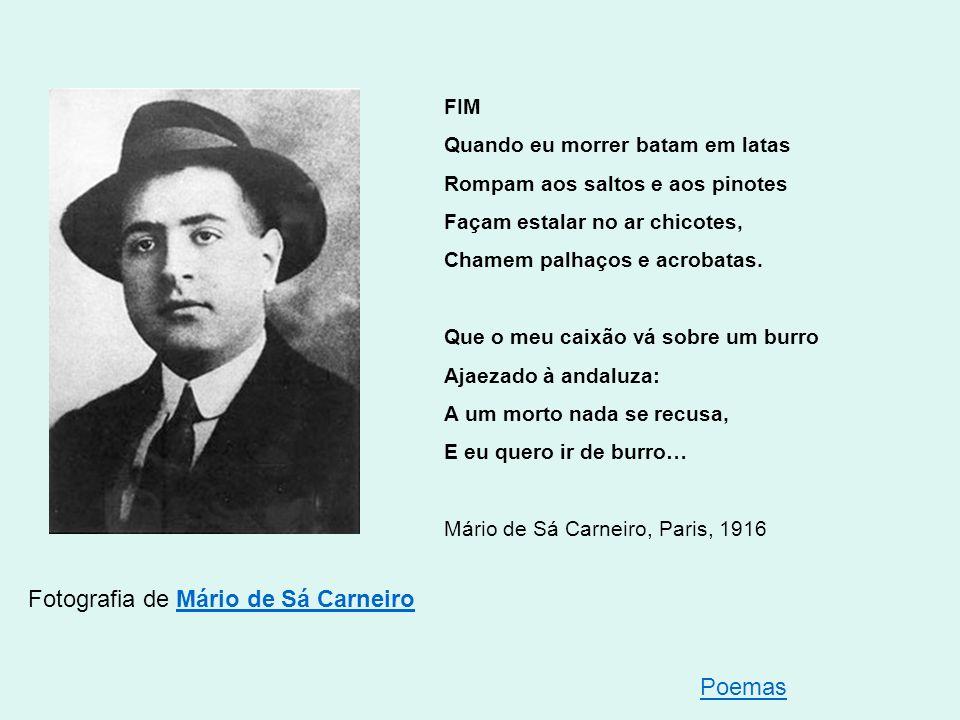 Fotografia de Mário de Sá Carneiro