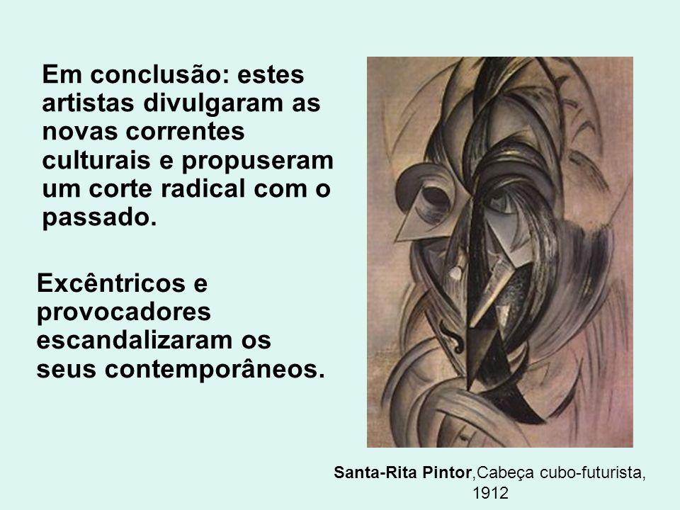 Santa-Rita Pintor,Cabeça cubo-futurista, 1912