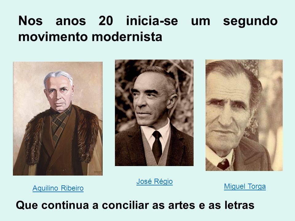 Nos anos 20 inicia-se um segundo movimento modernista