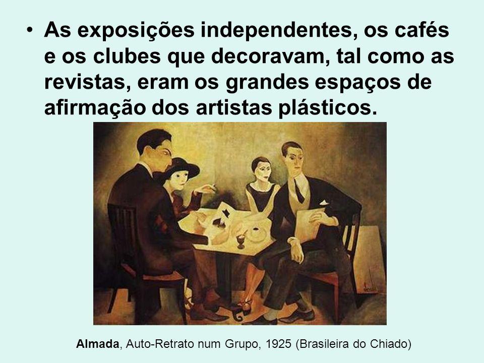 Almada, Auto-Retrato num Grupo, 1925 (Brasileira do Chiado)