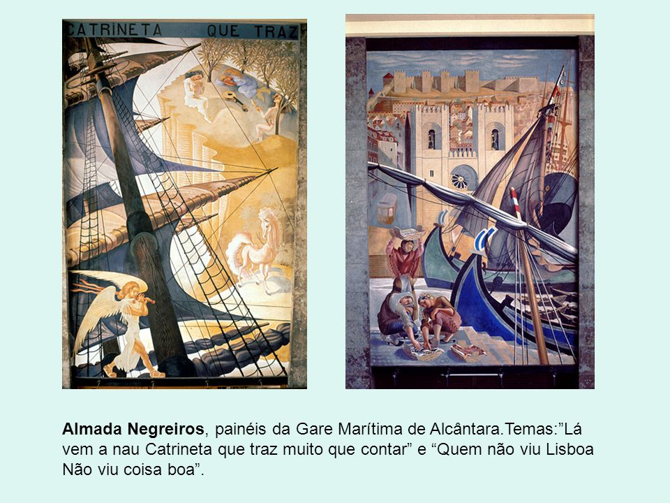 Almada Negreiros, painéis da Gare Marítima de Alcântara