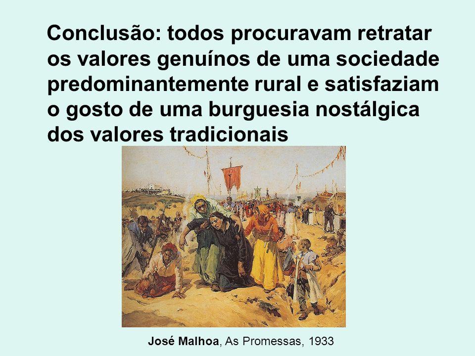 José Malhoa, As Promessas, 1933