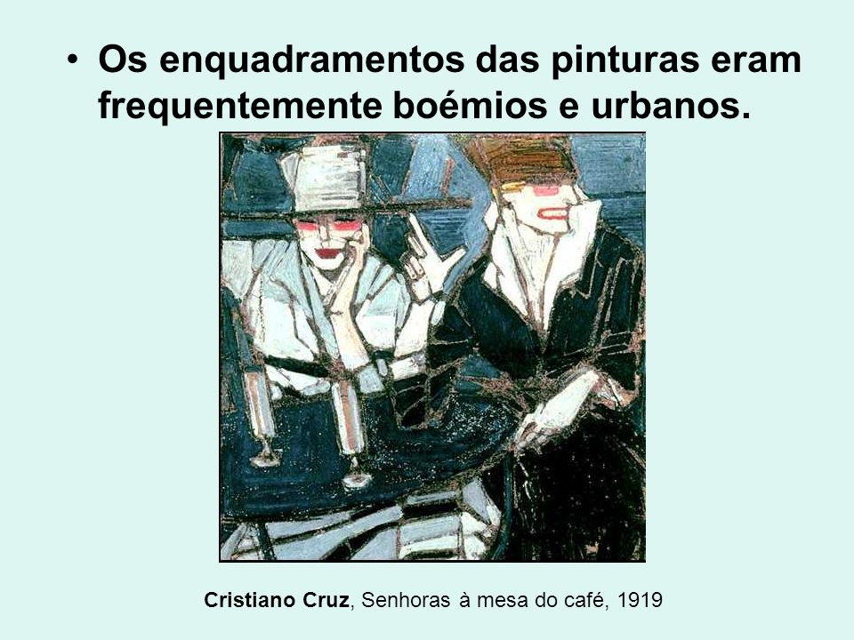 Cristiano Cruz, Senhoras à mesa do café, 1919