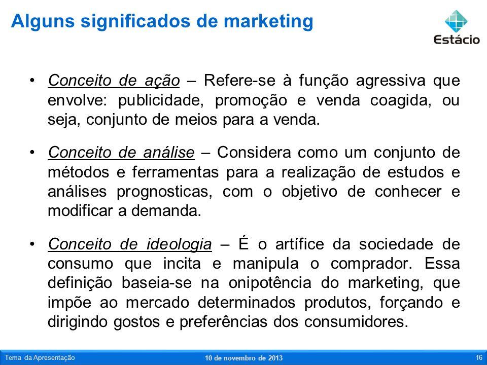 Alguns significados de marketing