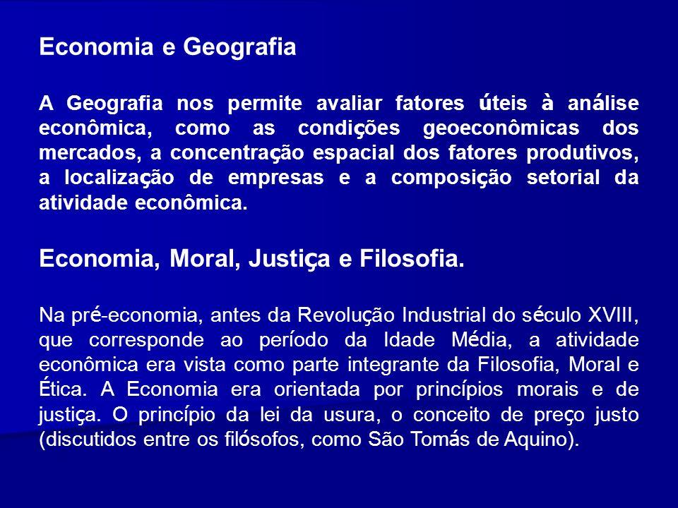 Economia, Moral, Justiça e Filosofia.