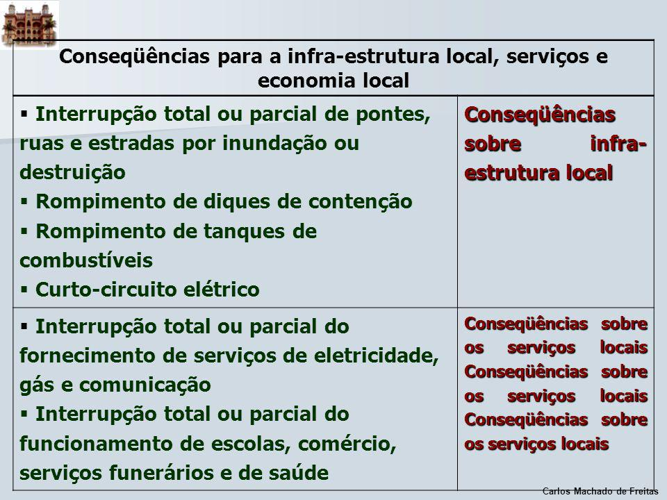 Conseqüências para a infra-estrutura local, serviços e economia local