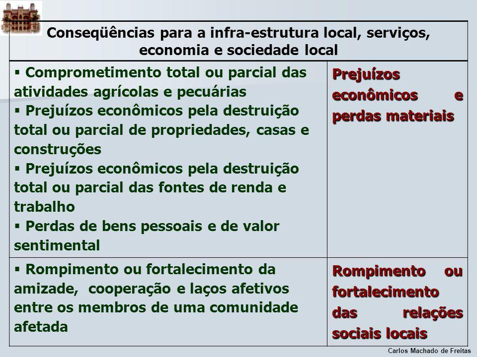 Comprometimento total ou parcial das atividades agrícolas e pecuárias