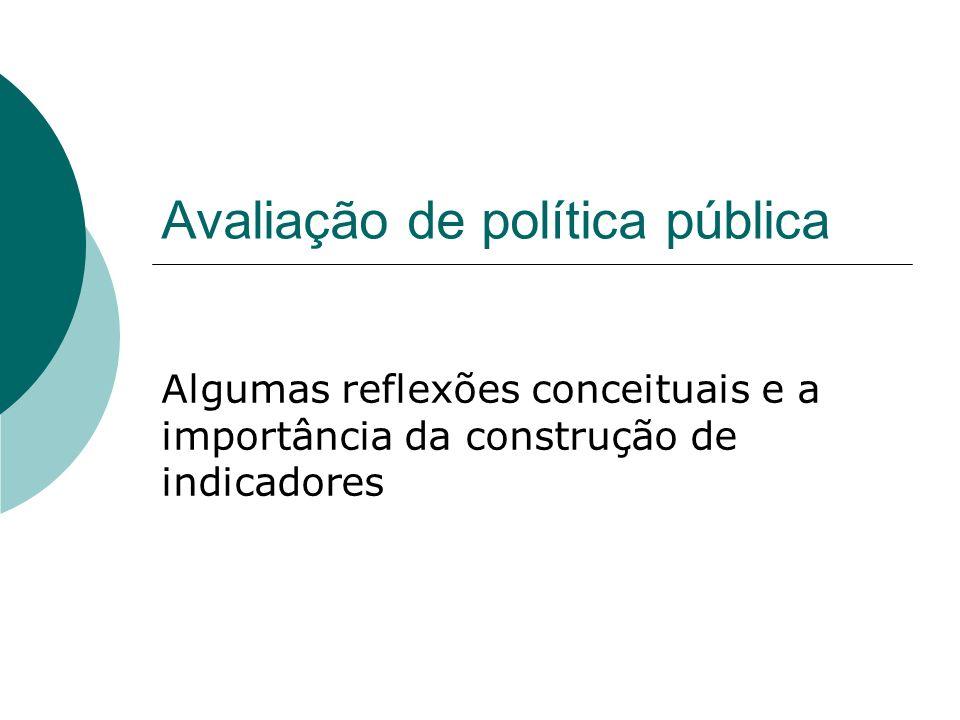 Avaliação de política pública