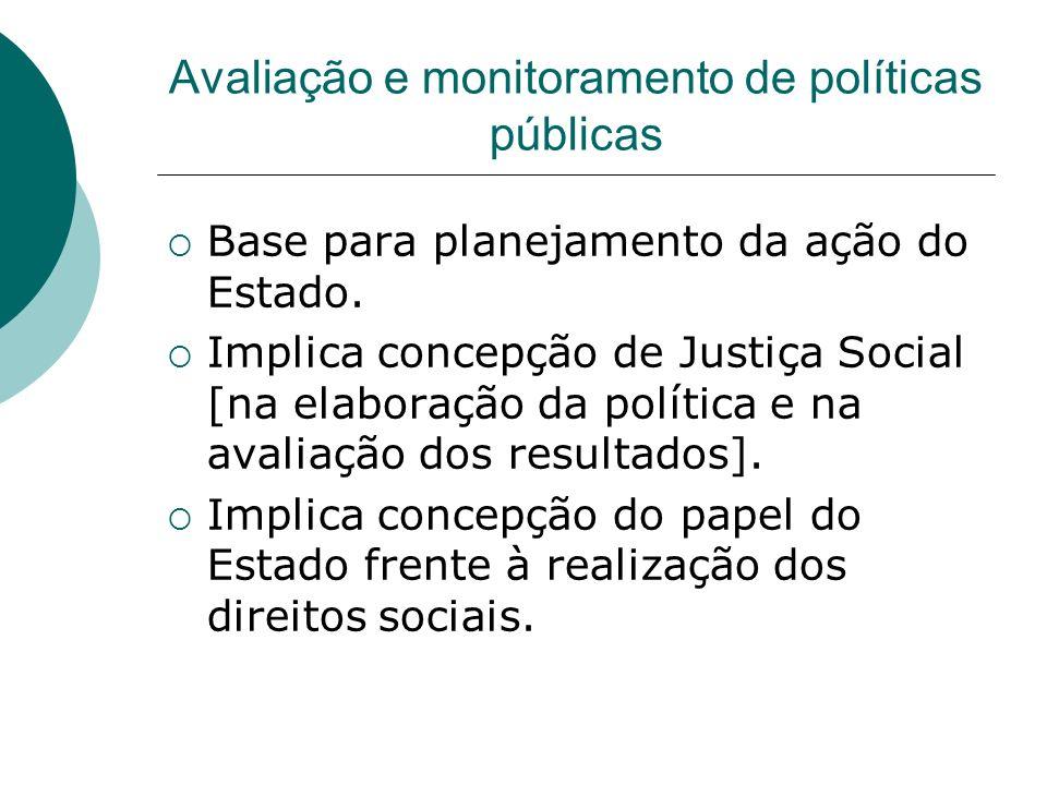 Avaliação e monitoramento de políticas públicas