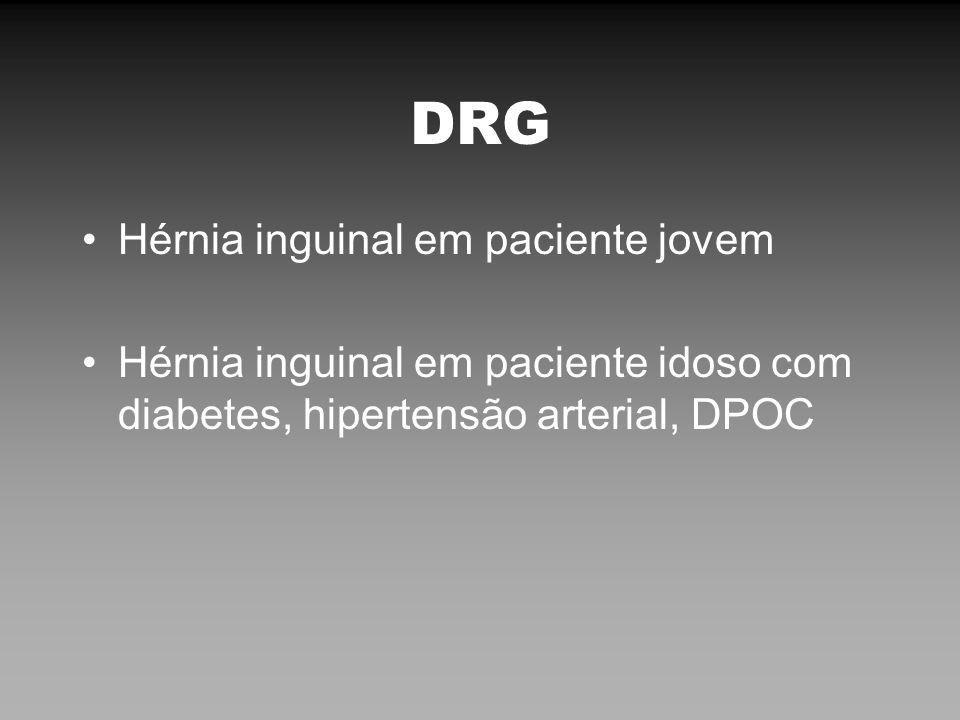 DRG Hérnia inguinal em paciente jovem