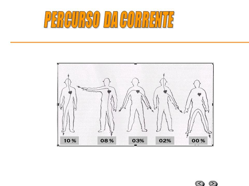PERCURSO DA CORRENTE 10 % 08 % 03% 02% 00 %
