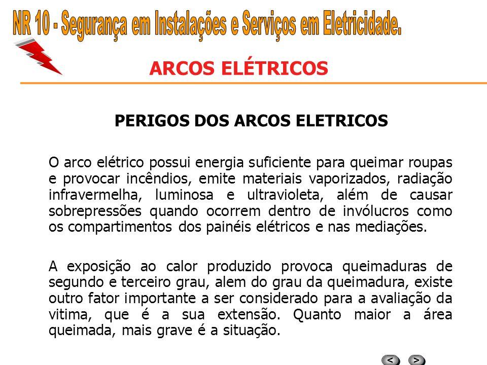 PERIGOS DOS ARCOS ELETRICOS