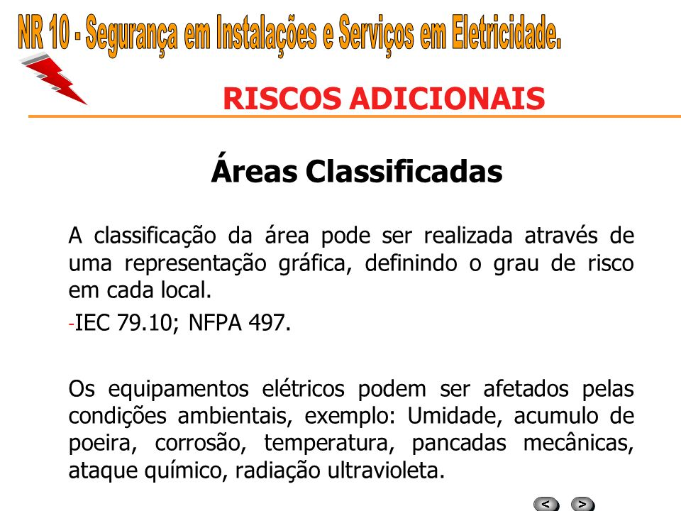 NR 10 - Segurança em Instalações e Serviços em Eletricidade.