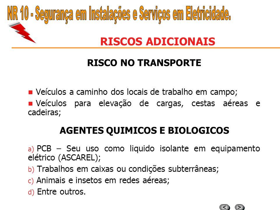 AGENTES QUIMICOS E BIOLOGICOS