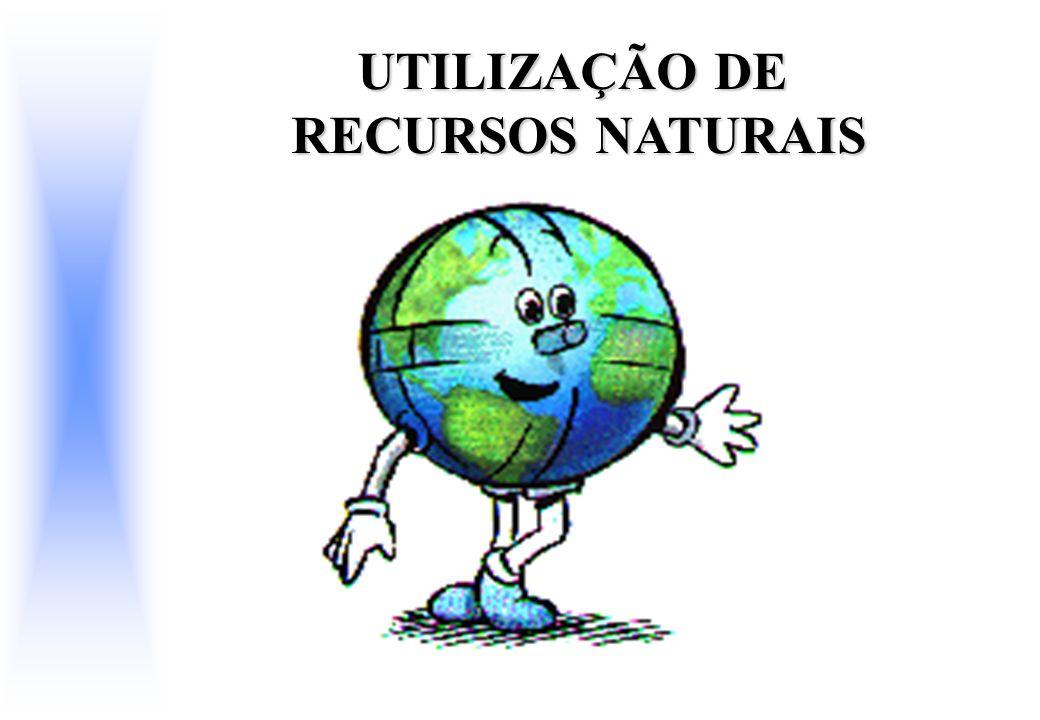 UTILIZAÇÃO DE RECURSOS NATURAIS