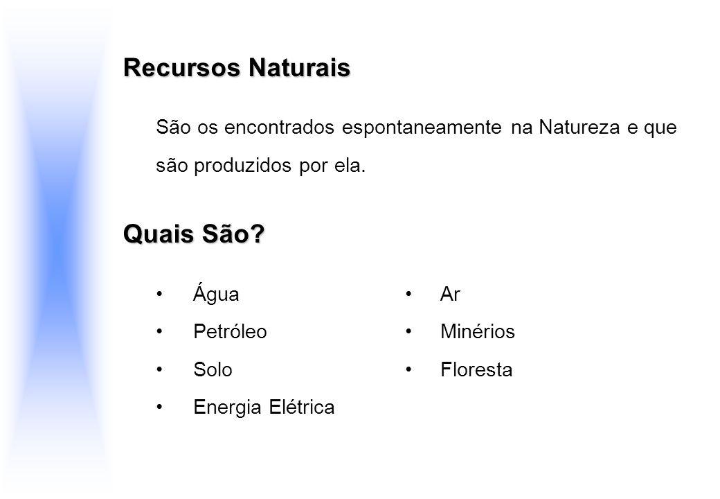 Recursos Naturais Quais São