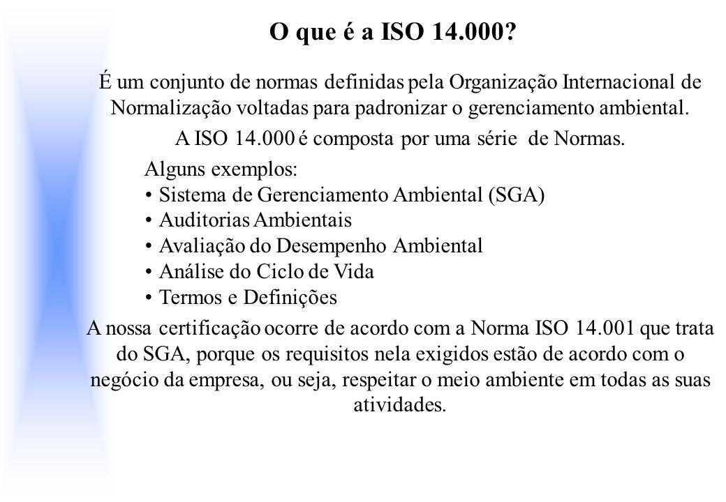 A ISO 14.000 é composta por uma série de Normas.