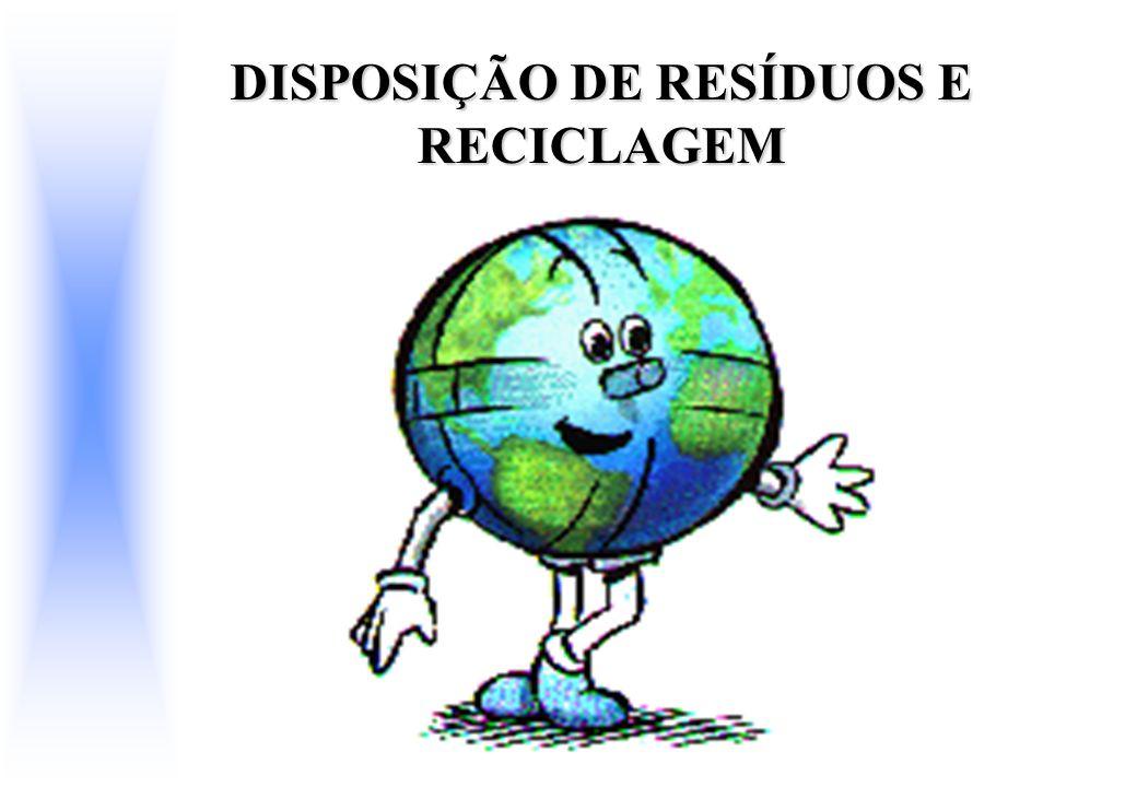 DISPOSIÇÃO DE RESÍDUOS E RECICLAGEM